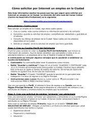 Cómo solicitar por Internet un empleo en la Ciudad - City of Seattle