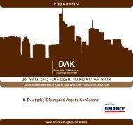 8. Deutsche Distressed-Assets-Konferenz - Finance Magazin