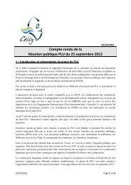 Réunion publique 25/09/2012 - Mairie de CESSY