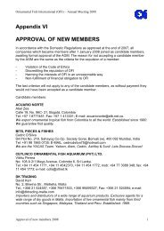 Appendix VI APPROVAL OF NEW MEMBERS - Ornamental Fish ...