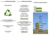 Firmenverbund Institut für Umwelt und Boden