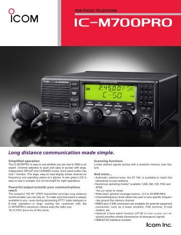 Icom M35 Manual