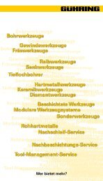 Kontakt Schweiz - Gühring Navigator