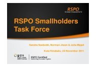 RSPO Smallholders Task Force - RT9 2011