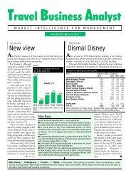 June 2001 - Travel Business Analyst
