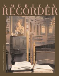 n o v e m b e r 2 0 0 6 - American Recorder Society
