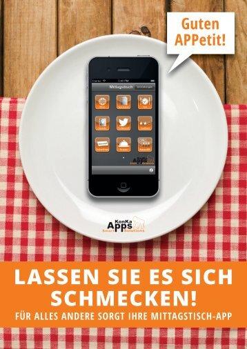 Neuer Mittagstisch App Flyer - KonKaApps