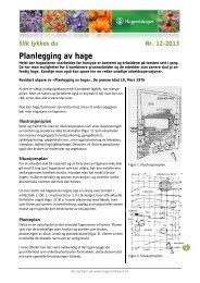 Planlegging av hage - Hageselskapet
