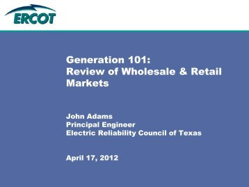 Review of Wholesale and Retail Markets - Public Utility Commission ...