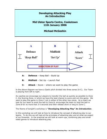 Developing Attacking Play - Ulster GAA