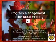 Program Management In the Rural Setting - West Virginia ...
