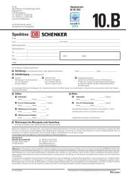 Formular 10.B - Spedition Schenker - Interlift