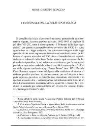 i tribunali della sede apostolica - accademia di scienze lettere e ...