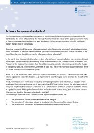 Is there a European cultural policy? - European Music Council