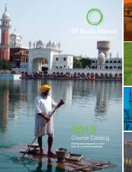 2013 Programs in Development, Urban Studies, and Entrepreneurship