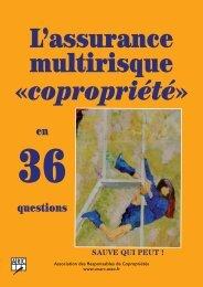 L'assurance multirisque «copropriété» - Unarc