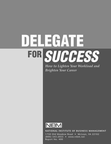 Delegate For Success