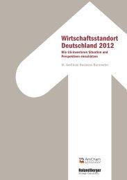 Wirtschaftsstandort Deutschland 2012 - AmCham Germany