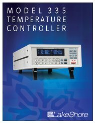 model 335 temperature controller - Lake Shore Cryotronics, Inc.