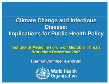 Climate Change and Infectious Disease - Institute of Medicine
