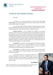 Lettre d'information n°29 - Le Pacte Mondial