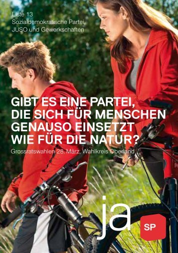liste 13 - Sozialdemokratische Partei Kanton Bern