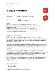 einladung zum parteitag - Sozialdemokratische Partei Kanton Bern