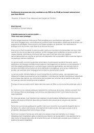 Les discours (PDF) - PS du canton de Berne