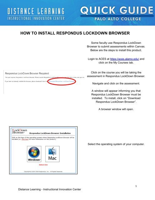 how to download respondus lockdown browser