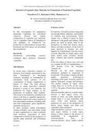 Research of Vegetative Raw Materials for Preparation of Fermented ...