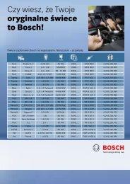 Czy wiesz, że Twoje oryginalne świece to Bosch! - MotoFocus