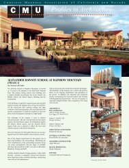 CMU - Concrete Masonry Association of California and Nevada