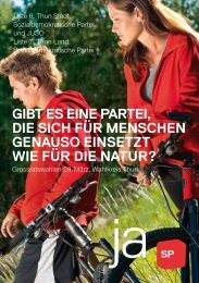 liste 7 thun land - Sozialdemokratische Partei Kanton Bern