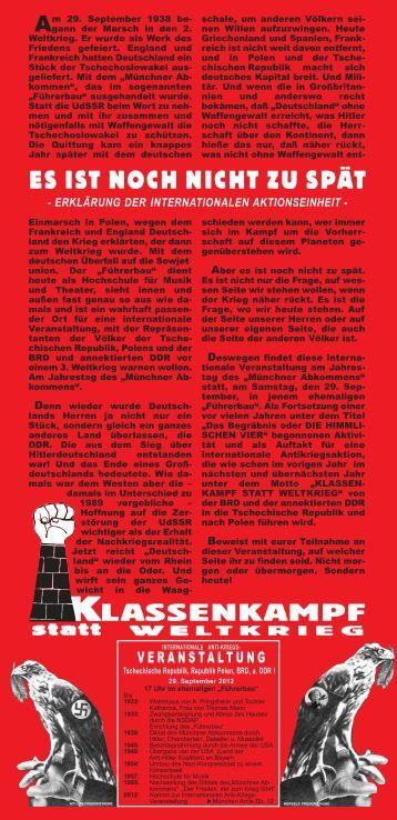 Flugschrift der internationalen Aktionseinheit - Arbeiterbund für den ...