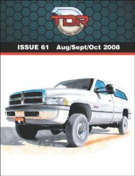To download this article in .pdf format, click - Turbo Diesel Register