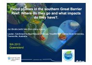 Flood plumes in the southern Great Barrier Reef - GEMS Event ...