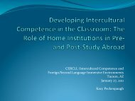 CERCLL: Intercultural Competence and Foreign/Second Language ...