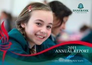 2011 ANNUAL REPORT - DANEBANK Anglican School For Girls