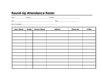 Round-Up Attendance Roster
