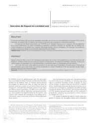 Sarcoma de Kaposi en cavidad oral Resumen Abstract - Revista de ...