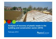 Analysis of recovery of plastic waste in the building and construction ...