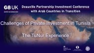 Challenges of Private Investment in Tunisia The TuNur Experience