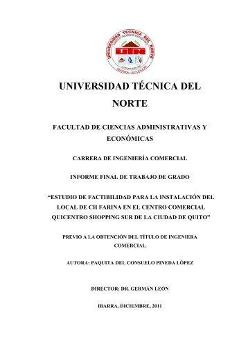 universidad técnica del norte facultad de ciencias ... - Repositorio UTN
