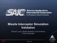 Missile Interceptor Simulation Validation - AGI