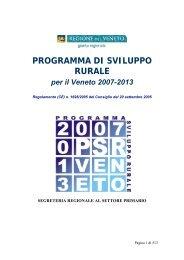 Programma di sviluppo rurale, approvato dalla CE - Università IUAV ...