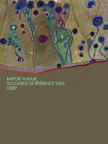 Cerep / Document de référence et rapport annuel 2005