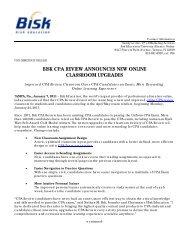 bisk cpa review announces new online classroom ... - Bisk Education