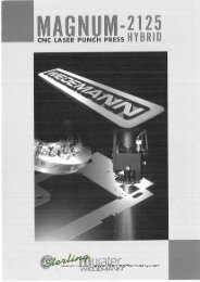 Wiedermann Magnum-2125 CNC Turret Punch Press Hybrid Brochure