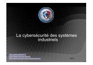 La cybersécurité des systèmes industriels