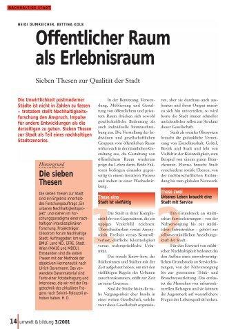 3/2001 - Forum Umweltbildung